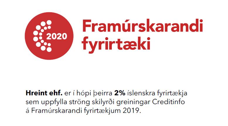 Sjötta árið í röð er Hreint framúrskarandi